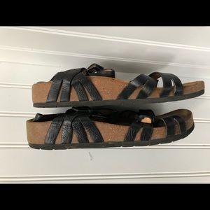 Sofft sz 8 Black sandals comfortable  Strappy cork